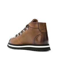 Zapatillas altas de cuero marrónes de Doucal's