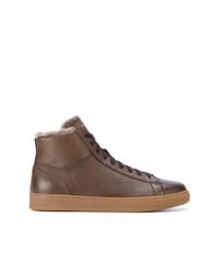 Zapatillas altas de cuero marrónes de Henderson Baracco