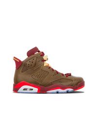Zapatillas altas de cuero marrónes de Jordan