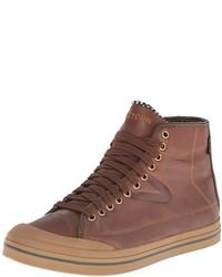 Zapatillas altas de cuero marrónes de Tretorn