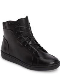 Zapatillas altas de cuero negras
