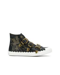 Zapatillas altas de cuero negras de Chloé