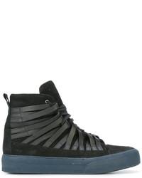 Zapatillas altas de cuero negras de Damir Doma