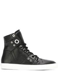 Zapatillas altas de cuero negras de Diesel Black Gold