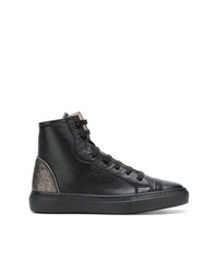 Zapatillas altas de cuero negras de Fabiana Filippi