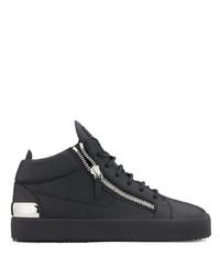 Zapatillas altas de cuero negras de Giuseppe Zanotti