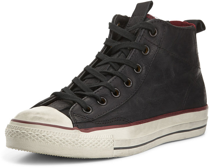 converse leather negras