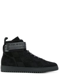 Zapatillas altas de cuero negras de Off-White