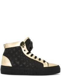 Zapatillas altas de cuero negras de Philipp Plein