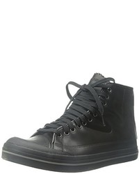 Zapatillas Altas de Cuero Negras de Tretorn