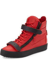 zapatillas puma altas rojas