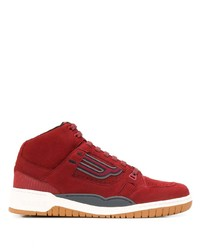 Zapatillas altas de cuero rojas de Bally