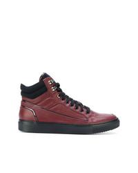 Zapatillas altas de cuero rojas de Fabi