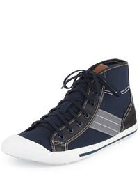 Zapatillas altas de lona azul marino