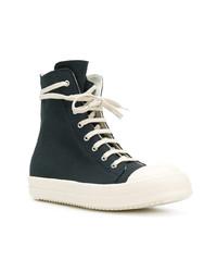 Zapatillas altas de lona azul marino de Rick Owens DRKSHDW