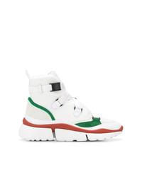 Zapatillas altas de lona blancas de Chloé