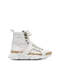 Zapatillas altas de lona blancas de MARQUES ALMEIDA