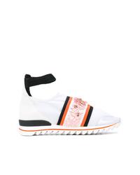 Zapatillas altas de lona con adornos blancas de NO KA 'OI
