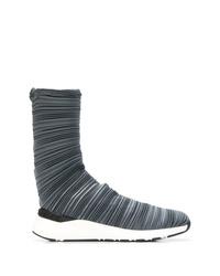 Zapatillas altas de lona en gris oscuro de Casadei