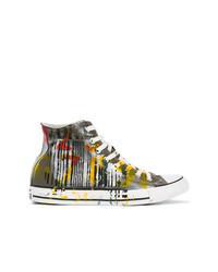 Zapatillas altas de lona en multicolor