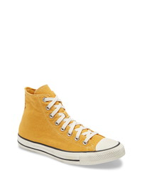 Zapatillas altas de lona mostaza