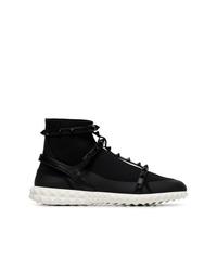 Zapatillas altas de lona negras de Valentino