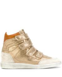 Zapatillas altas doradas de Isabel Marant