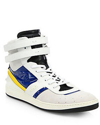 Zapatillas altas en blanco y azul