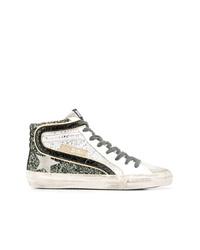 Zapatillas altas en blanco y negro de Golden Goose Deluxe Brand