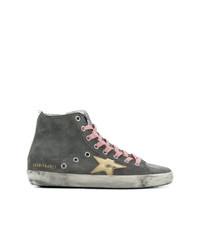 Zapatillas altas en gris oscuro de Golden Goose Deluxe Brand