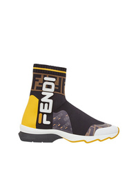 Zapatillas altas en multicolor de Fendi