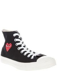 Zapatillas altas en negro y blanco