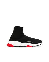 Zapatillas altas en negro y blanco de Balenciaga