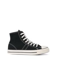 Zapatillas altas en negro y blanco de Converse