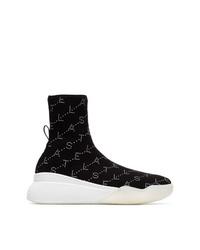 Zapatillas altas en negro y blanco de Stella McCartney