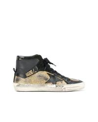 Zapatillas altas en negro y dorado de Golden Goose Deluxe Brand