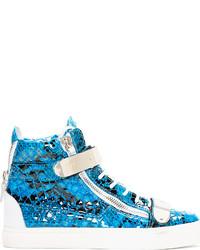 Zapatillas altas en turquesa