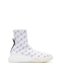 Zapatillas altas estampadas blancas de Stella McCartney