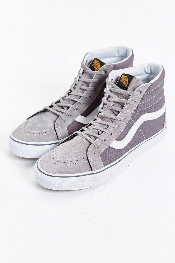 vans grises altas