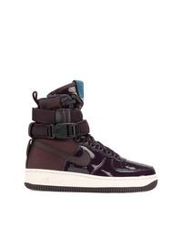 Zapatillas altas morado oscuro de Nike