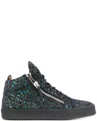 Zapatillas altas negras de Giuseppe Zanotti Design