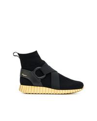 Zapatillas altas negras de Salvatore Ferragamo