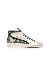 Zapatillas altas plateadas de Golden Goose Deluxe Brand