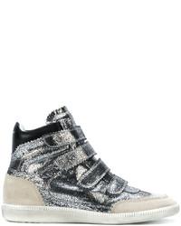 Zapatillas altas plateadas de Isabel Marant