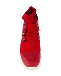 zapatillas adidas rojas altas