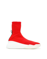 Zapatillas altas rojas de Stella McCartney