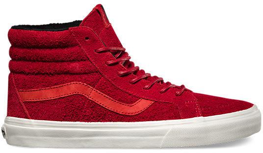 vans altas rojas