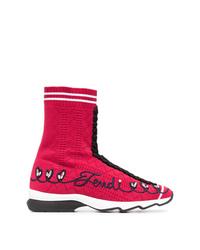 Zapatillas altas rosa de Fendi