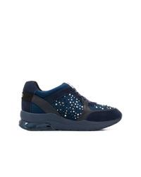 Zapatillas con cuña de ante azul marino de Liu Jo