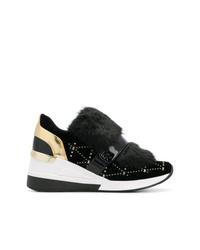 Zapatillas con cuña de ante negras de MICHAEL Michael Kors